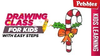 How to draw Christmas candy | Easy Step by step drawing | Christmas special Drawing for kids