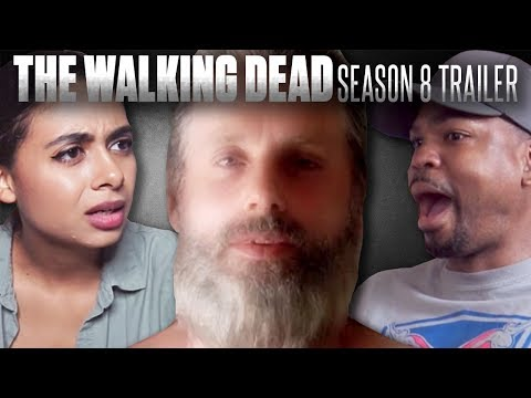 The Walking Dead Season 8 Official Comic Con Trailer Reaction Compilation!