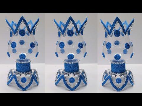 Bottle Craft Ideas | Flower vase from Plastic Bottle | Ide kreatif botol bekas
