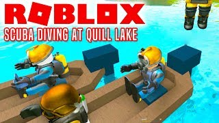 DYKKERHOLDET! - Roblox Scuba Diving At Quill Lake Dansk Ep 2
