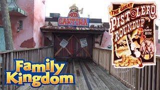 The Great Pistolero Roundup On Ride POV (Shooting Dark Ride) Family Kingdom in Myrtle Beach