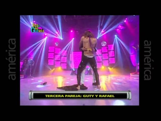 Esto es Guerra: Guty Carrera y Rafael Cardozo bailan juntos - 17/04/2013