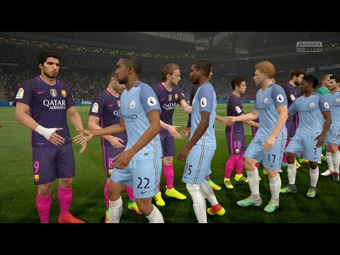 FIFA 17   Manchester City vs FC Barcelona  - Full Gameplay (PS4/Xbox One)