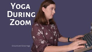 5 Minute Yoga Stretch for During your Zoom Call