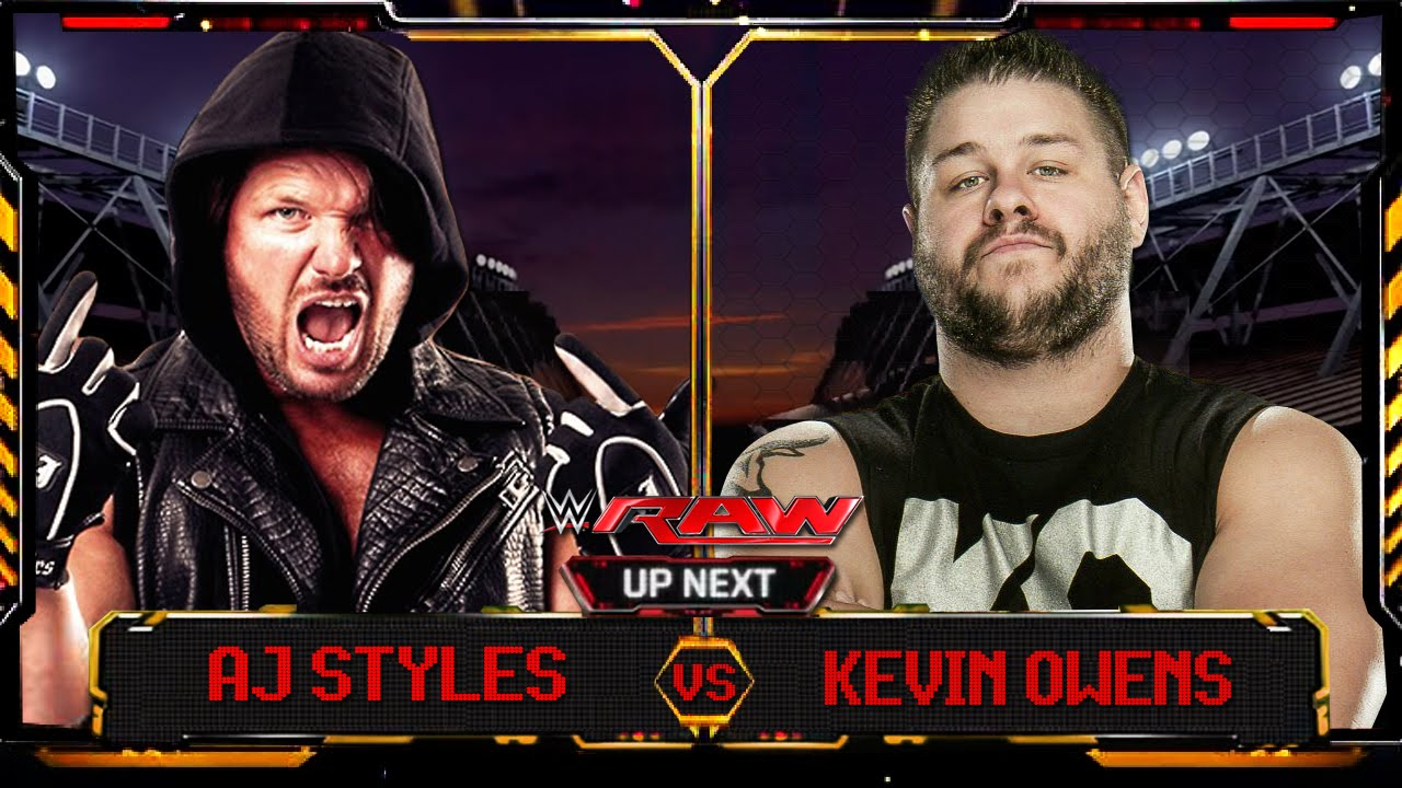wwe raw 2016 aj styles vs kevin owens full match hd youtube. Black Bedroom Furniture Sets. Home Design Ideas