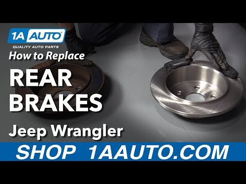 How to Replace Rear Brakes 06-18 Jeep Wrangler