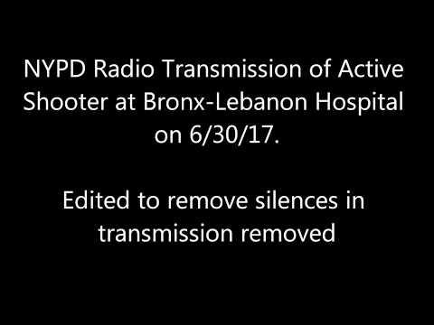 Active Shooter at Bronx-Lebanon Hospital Audio