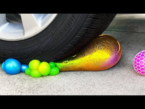 Crushing Crunchy & Soft Things by Car Compilation! - Floral Foam, Squishy, Tide Pods and More!