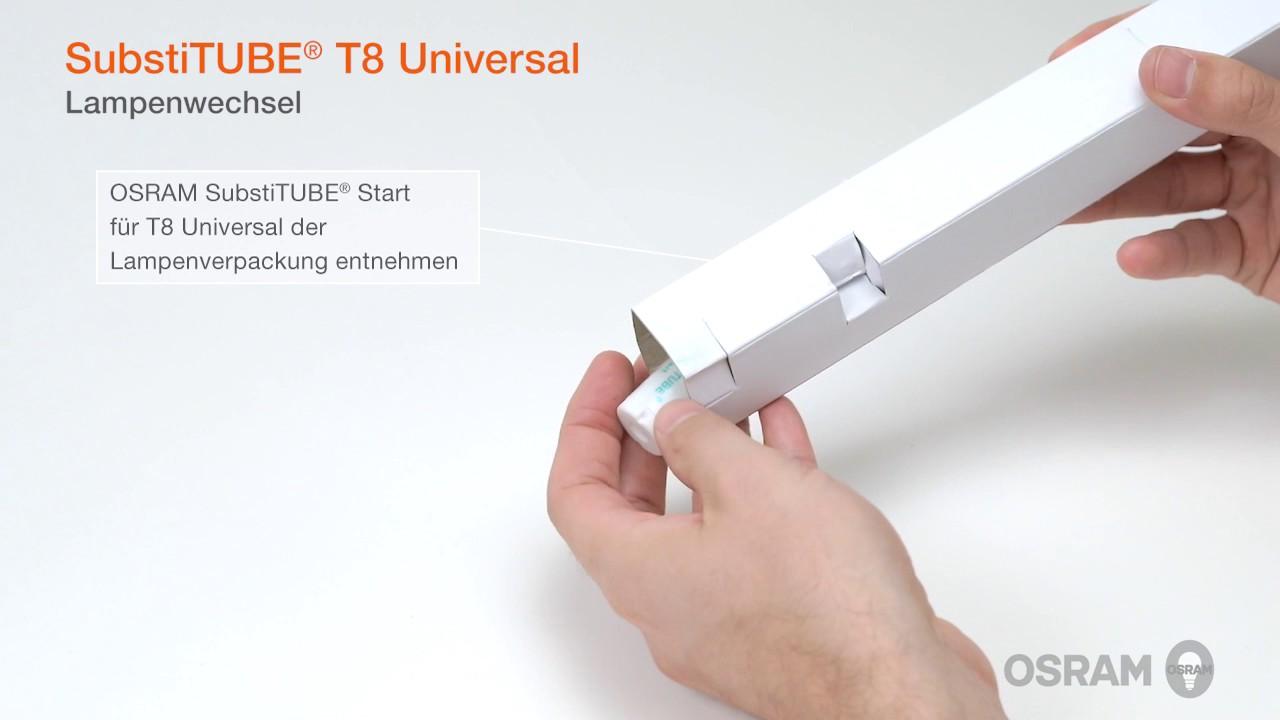 Installation SubstiTUBE Universal für EVG- und KVG-Leuchten – Eine ...
