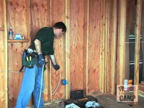 How to Electrical Drilling and Running Wire - YouTube