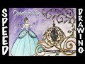 Disney's Cinderella Speed Drawing - Nail Polish Art