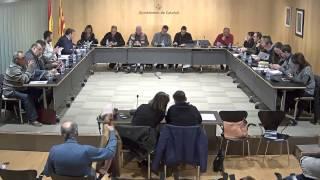 Ajuntament de Calafell: sessió plenària ordinària, 9 de gener de 2017