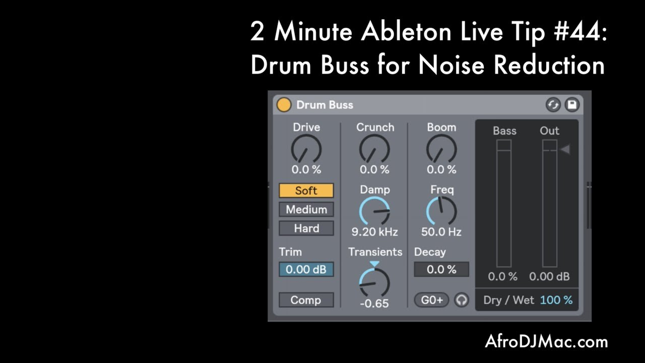Ableton's Drum Buss for Noise Reduction - 2 Minute Ableton Live Tip