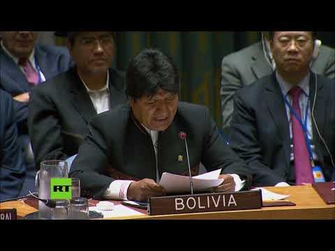 """""""A EE.UU. no le interesa la democracia"""" - Evo Morales en el Consejo de Seguridad de la ONU"""
