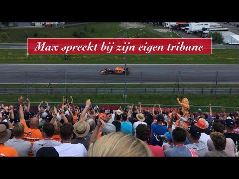 Max Verstappen bij onze tribune!