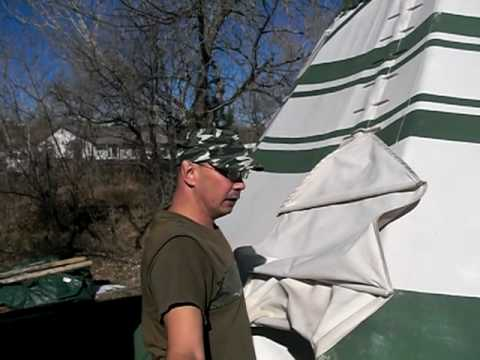 Mark takes me on a tour of his Teepee (Tipi) in Golden, Colorado