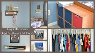 Boys Bedroom Organization and Decor