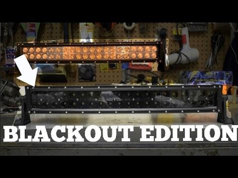 Painting LED Light Bar! DIY Blackout Edition!