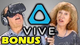 ELDERS REACT TO HTC VIVE (VR) (BONUS #85)