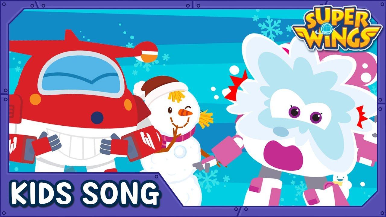 Snowy Day | Kids Songs | Nursery Rhymes | Super wings song