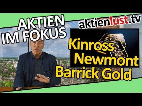 Barrick Gold, Newmont Mining, Kinross sind Hebelscheine auf den Goldpreis | aktienlust
