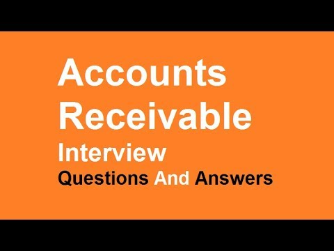 Accounts Receivable Interview Questions And Answers