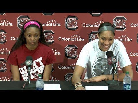 POSTGAME: Bianca Jackson, A'ja Wilson on Kentucky — 2/18/18