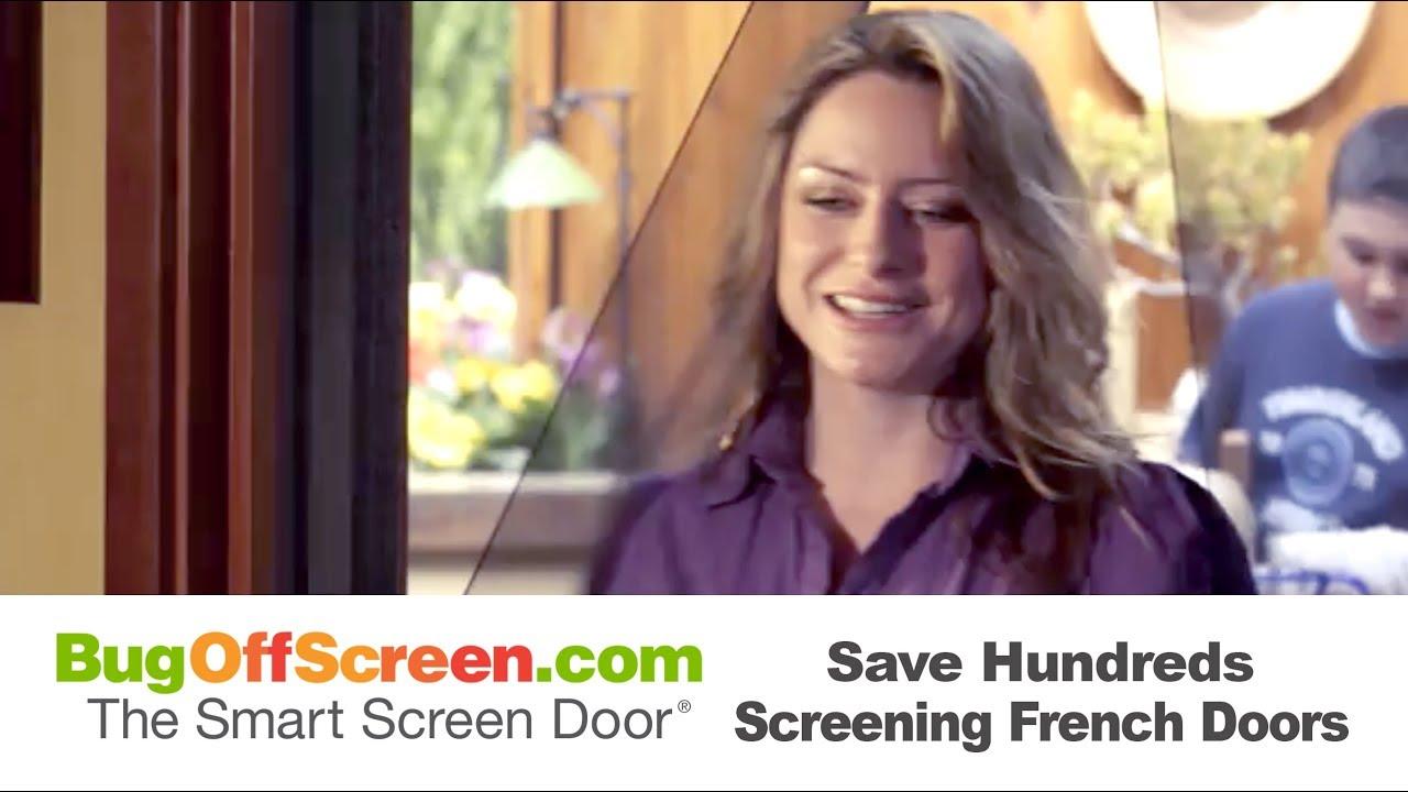 Bug Off Magnetic French Door Screens