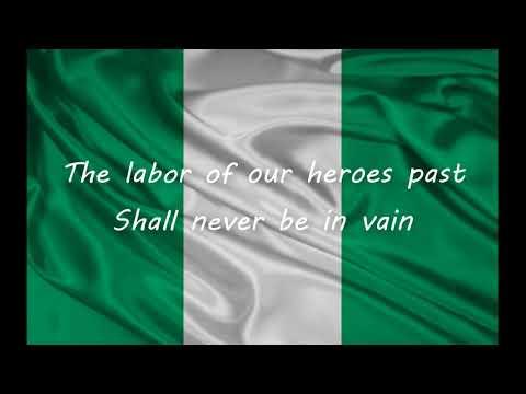 Nigerian National Anthem With Lyrics (Subtitles)