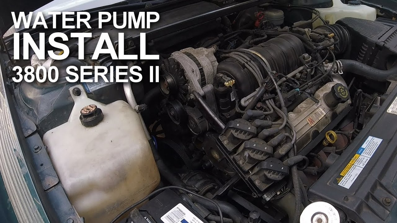 medium resolution of how to gm 3800 series ii water pump install step by step youtube 3800 series 2 engine diagram heat hose