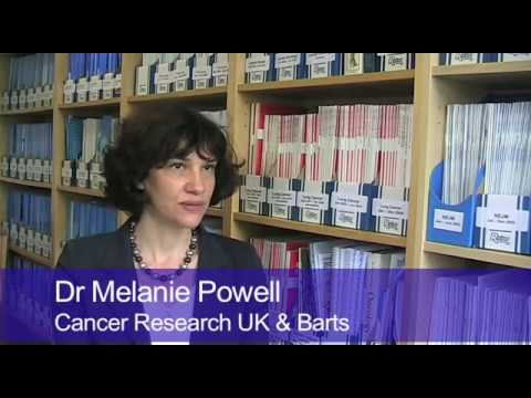 CRUK   Research and trials   Dr. Melanie Powell talks about the PORTEC-3 trial - The PORTEC-3 trial is trying to find out if radiotherapy and chemotherapy after surgery could improve survial in women with womb cancer.