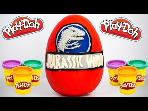 How to Make Giant Jurassic World Play Doh Surprise Egg