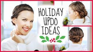 Easy Holiday Updo Ideas! Thumbnail