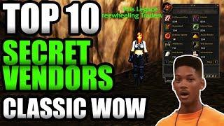 TOP 10 Secret Vendors In Classic WoW! [Vault of Secrets]
