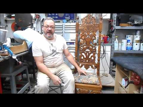 Restoration of a Heavily Carved Oak High Back Chair
