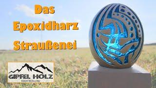 Epoxid Straußenei Lampe gießen | Oster Dekoration DIY Epoxy Harz