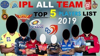 IPL 2019 * ALL TEAM TOP 5 Players list * TOP 5 Players For VIVO IPL 2019 Championship