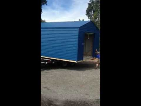 Superior Shed delivery  12x20  by shed movers of Florida