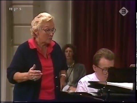 Elisabeth Schwarzkopf   Masterclass Nico van der Meel   1987