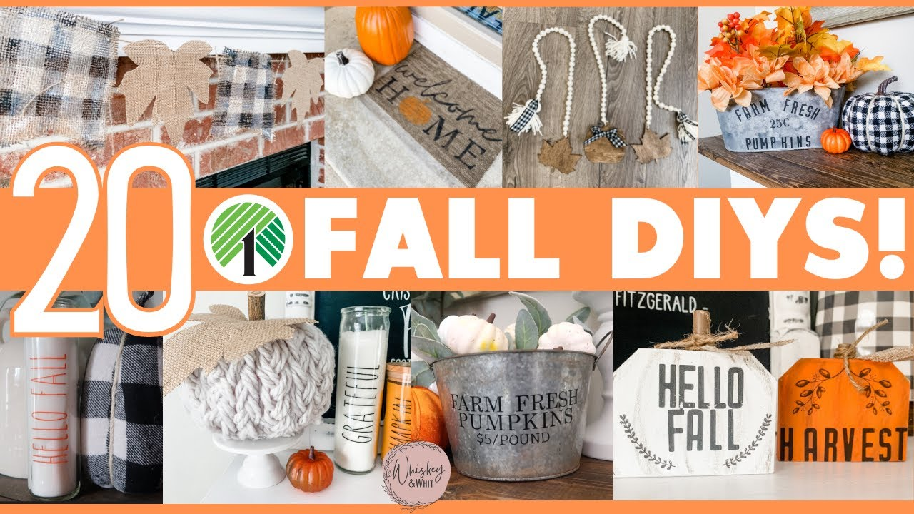 20 AMAZING High-End Dollar Tree Fall DIYs for 2021  🍁 Cheap $1 DIY Decor that looks EXPENSIVE! 😍
