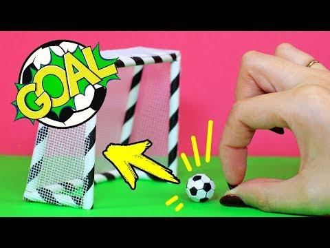 Как из бумаги сделать футбольные ворота своими руками