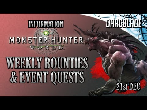 Behemoth on PC! : Weekly Limited Bounties & Event Quests : Monster Hunter World : 21st Dec18 thumbnail