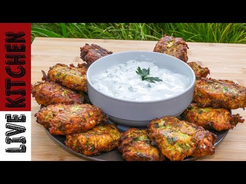 Κολοκυθοκεφτέδες   Greek style Zucchini Fritters   Live Kitchen