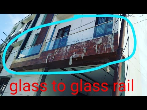 Glass To Glass Railling On Site