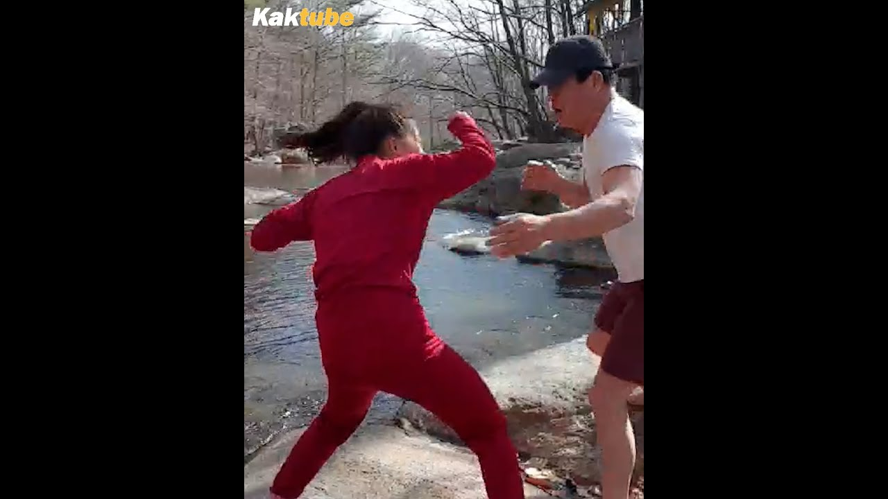 #shorts Dad and daughter fight.
