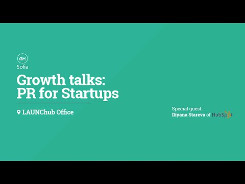Growth talks: PR for Startups