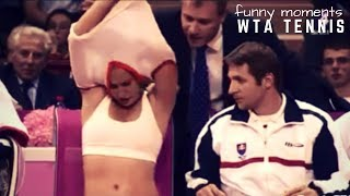 Tennis TOP5 - Most Funny Women's Moments WTA