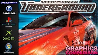 Need for Speed Underground | Graphics Comparison | ( Gamecube, PS2 ,XBOX ,PC ,GBA )
