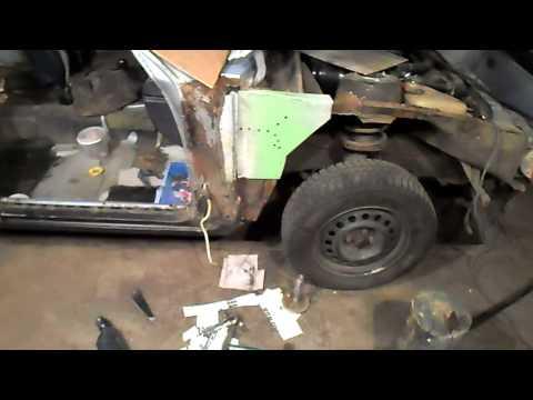 Кузовной ремонт.Опель Рекорд, ремонт стойки