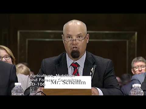 David Schemm Testimony before Senate Agriculture Committee